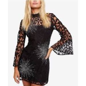NEW Free People North Star Sequin Lace Mini Dress